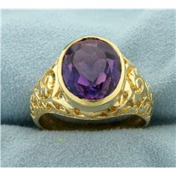5ct Purple Sapphire Ring in 10K Yellow Gold