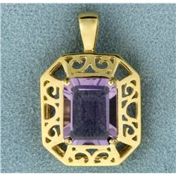 3ct Natural Amethyst Gold Pendant