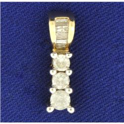 1/2ct TW Diamond Gold Pendant