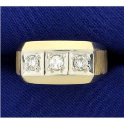 1/2ct TW Three Stone Diamond Ring in 10K Yellow and White Gold