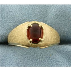 1ct Garnet Ring in 10K Yellow Gold