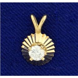 .2ct Solitaire Diamond Pendant in 14K Yellow Gold