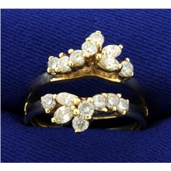 1ct TW Diamond Ring Jacket in 14K Yellow Gold
