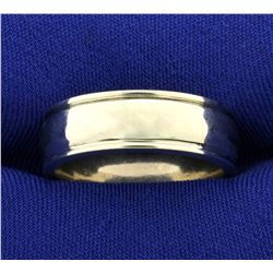 Wide Heavy Men's Wedding Band Ring in 14K White Gold