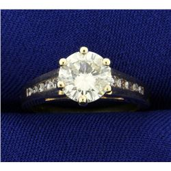 1.5ct TW Diamond Engagement Ring in 14K Yellow Gold