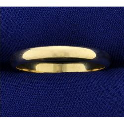 Men's 3.4mm Wedding Band Ring in 14K Yellow Gold