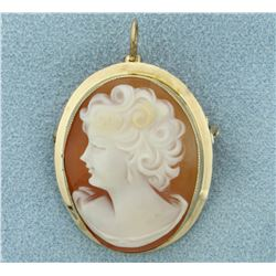 Cameo Pin/Pendant in 10K Yellow Gold