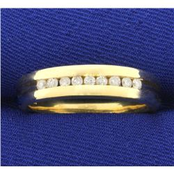 Diamond Band Wedding or Anniversary Ring in 14K Yellow Gold