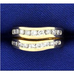 Two Diamond Stacking Band Rings in 14K Yellow Gold