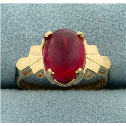 5ct Natural Ruby Ring in 14K Yellow Gold