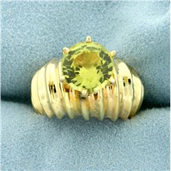 3ct Rare Yellow Chrysoberyl Ring in 14K Yellow Gold