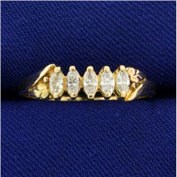 1/2ct TW Marquise Diamond  Ring in K Yellow Gold
