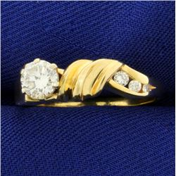 Over 1/2ct Diamond Ring in 14K Yellow Gold