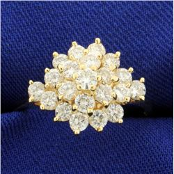 1 1/2ct TW Diamond Starburst Ring in 14K Yellow Gold