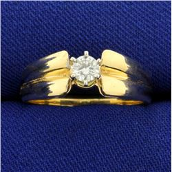 1/4ct Solitaire Diamond Engagement Ring in 14K Yellow Gold