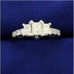 1ct TW Princess Cut Diamond Engagement Ring in 14K White Gold