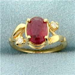 Morganite and Diamond Pinky Ring in 14K Yellow Gold