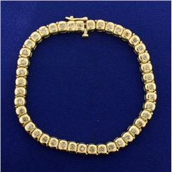 2ct TW Diamond Bracelet in 14K Yellow Gold