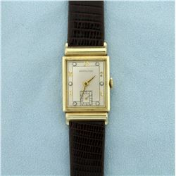 Vintage Men's Hamilton Watch in 14K Solid Gold Case and Diamond Face