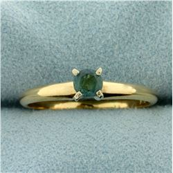 Natural 1/4ct Alexandrite Solitaire Ring in 14K Yellow Gold