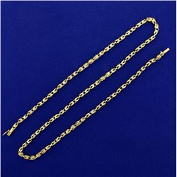 20 Inch Designer Link Neck Chain in 14K Yellow Gold
