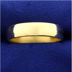 Men's Gold Wedding Band Ring in 14K Yellow Gold