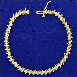 2ct TW Diamond Tennis Bracelet in 10K Yellow Gold