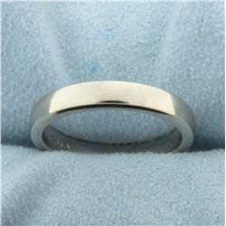 Men's Ergo Fit Wedding Band Ring in 18K White Gold