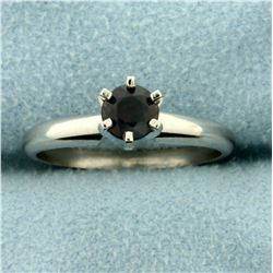 Natural Alexandrite Solitaire Ring in Platinum