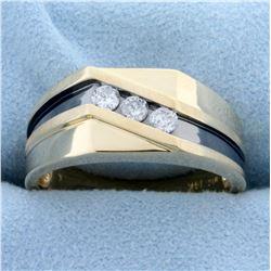 .3ct TW Men's Diamond Ring in 14K Yellow Gold