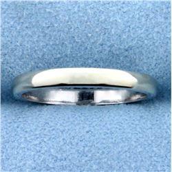 2.4mm White Gold Wedding Band Ring in 14K White Gold