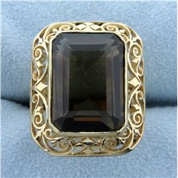 10ct Smoky Topaz Ring in 18K Yellow Gold