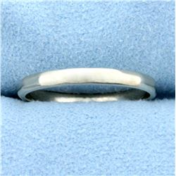 Unique White Gold Band Ring in 14K White Gold