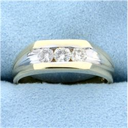 1/2ct TW Three-Stone Diamond Ring in 14K Yellow and White Gold