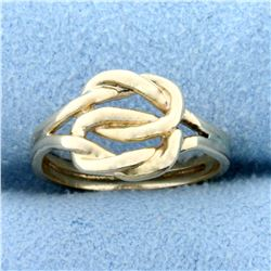 Double Knot Ring in 14K Yellow Gold