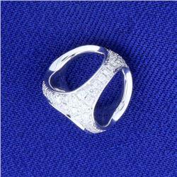 Sphere Diamond Charm or Pendant in 18K White Gold