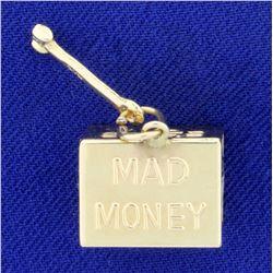 Mad Money in Emergency Break Glass Charm in 14K Yellow Gold