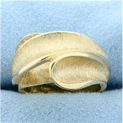 Modern Abstract Style Ring in 14K Yellow Gold