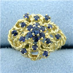 High Quality Natural Sapphire Ring in 18K Yellow Gold