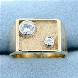 Men's 1/2ct TW Diamond Ring in 14K Yellow Gold