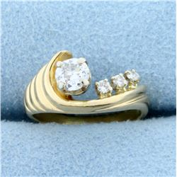 Antique 1/3ct TW Old European Cut Diamond Ring in 14K Yellow Gold
