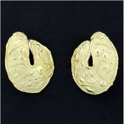 Large Statement Designer Earrings in 18K Yellow Gold