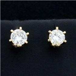 3/4ct TW Diamond Stud Earrings in 14K Yellow Gold