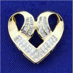 1ct TW Diamond Heart Pendant in 14k Yellow Gold