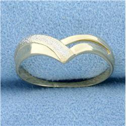 Designer V Shaped Ring in 18k Yellow Gold