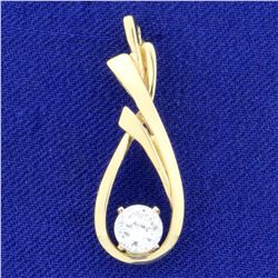 .6ct CZ Pendant in 14k Yellow Gold