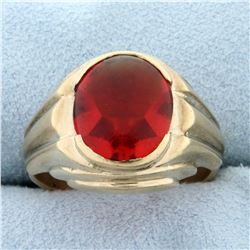 5ct Synthetic Ruby Ring in 10K Yellow Gold