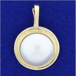 14mm Mabe Pearl Pendant in 14K Yellow Gold