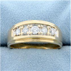 2/3ct TW Diamond Men's Ring in 14K Yellow Gold