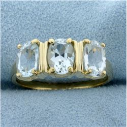3ct Tw Sky Blue Topaz Ring in 10K Yellow Gold